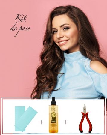 Kit d'extensions de cheveux à Bandes Adhésives - Exclusive
