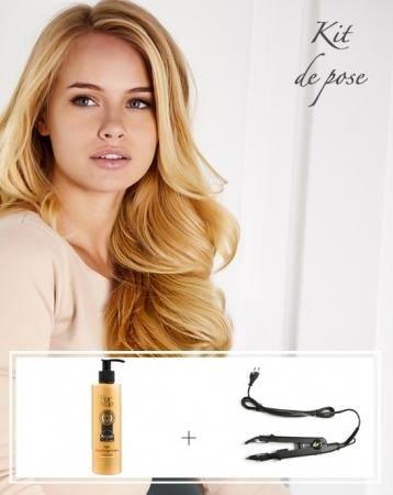 Kit d'Extensions de cheveux russes à kératine - Luxe