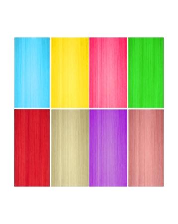 Pack de 8 Monoclips de couleurs Fantaisie