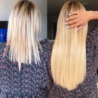 Magnifique pose de nos extensions à kératine #22 blond 46cm (100 mèches) par la talentueuse @kellyextensions 🙌🏻✨ #dreamextension