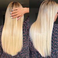 Magnifique pose de nos extensions à kératine blondes #22 par notre talentueuse partenaire @kellyextensions ✨